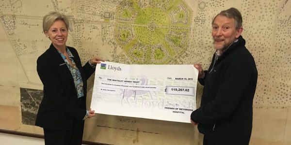 Donation will be a lasting legacy, improving the health and wellbeing of our residents, says Trust