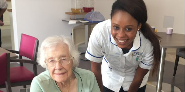 Whiteley welcomes student nurse following university approval as a training facility