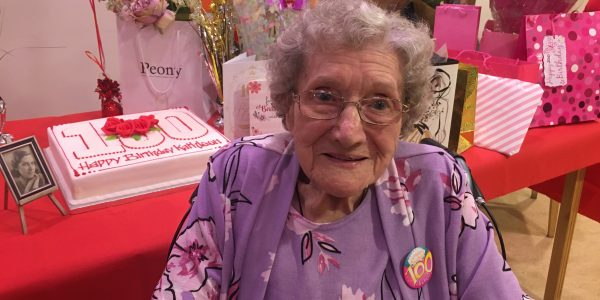 Kathleen's 100<sup>th</sup> means percentage of centenarians at Whiteley now 15 times more than rest of UK