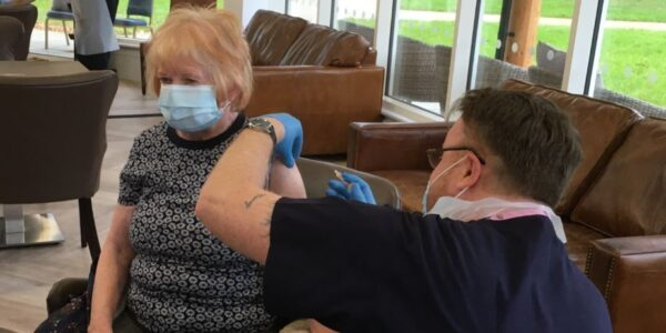 Relief as Whiteley vaccination clinic completes first dose of Covid-19 vaccine for almost all villagers over 70 and staff
